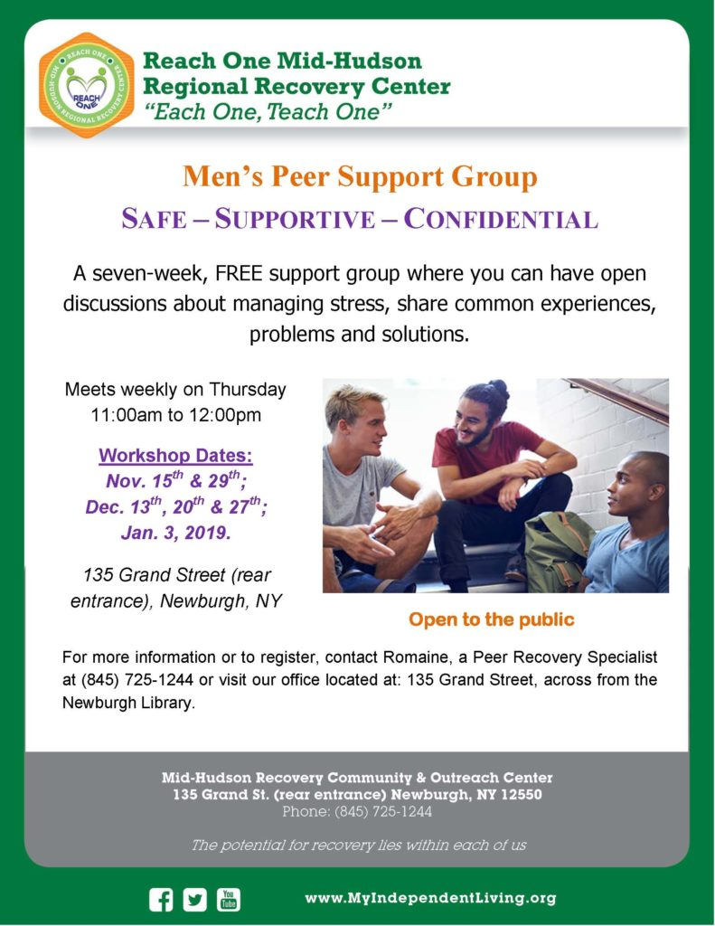 Men's Support Group @ Onward Recovery Community & Outreach Center