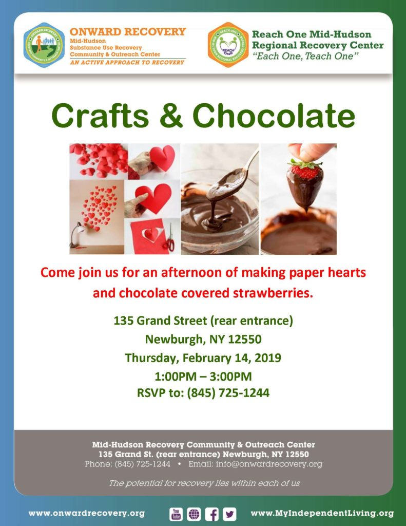 Crafts and Chocolate @ Onward Recovery Community & Outreach Center